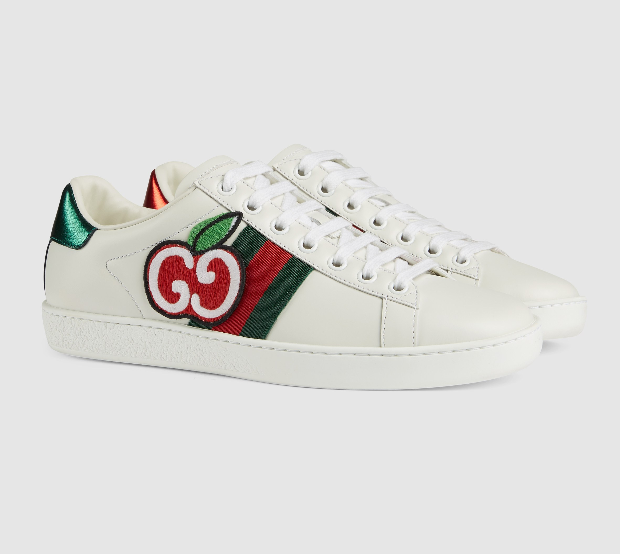 Gucci Ace Sneaker with GG Apple 611377 White