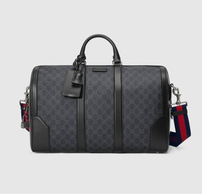 Gucci Soft GG Supreme Carry-on Duffle 474131 Black