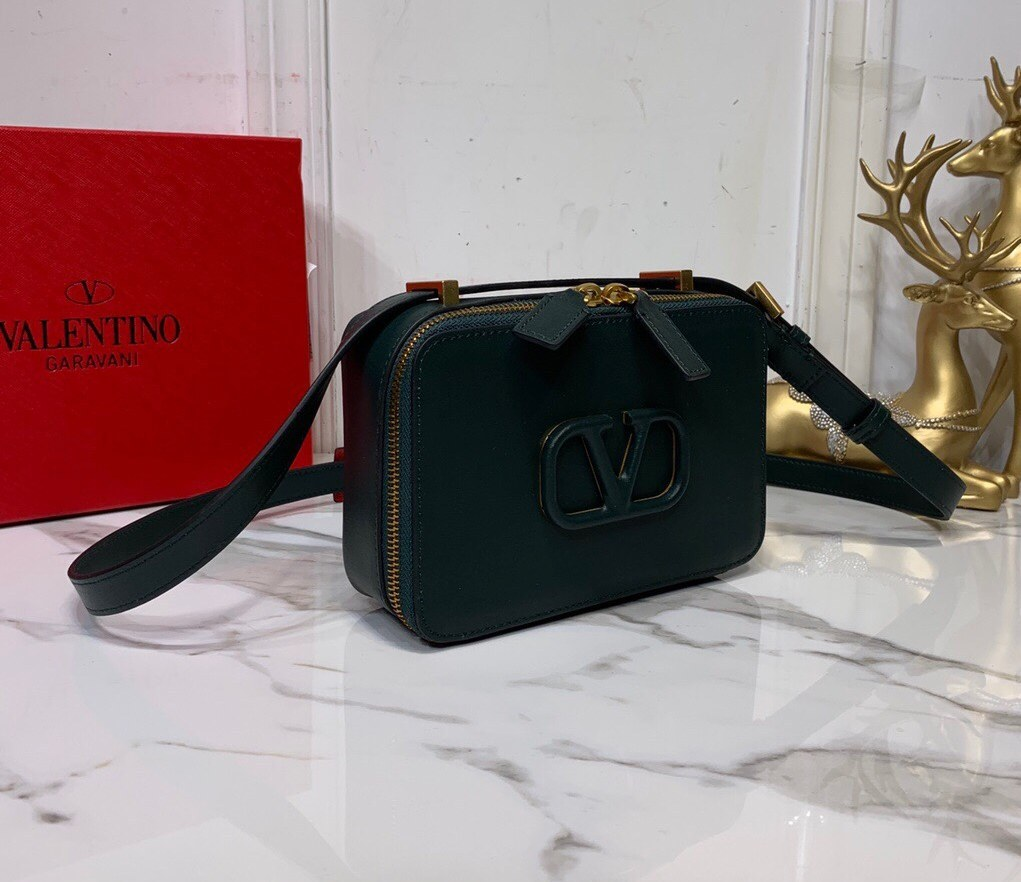 Valentino Garavani Vsling Smooth Calfskin Crossbody Bag SW0B0F19 Deep Green