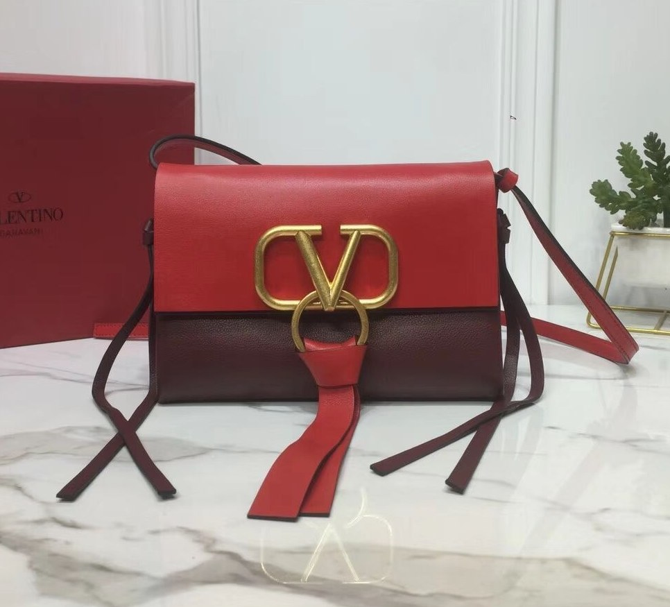 Valentino Garavani Vring Small Crossbody Bag RW0B0E04 Bordeaux&Red