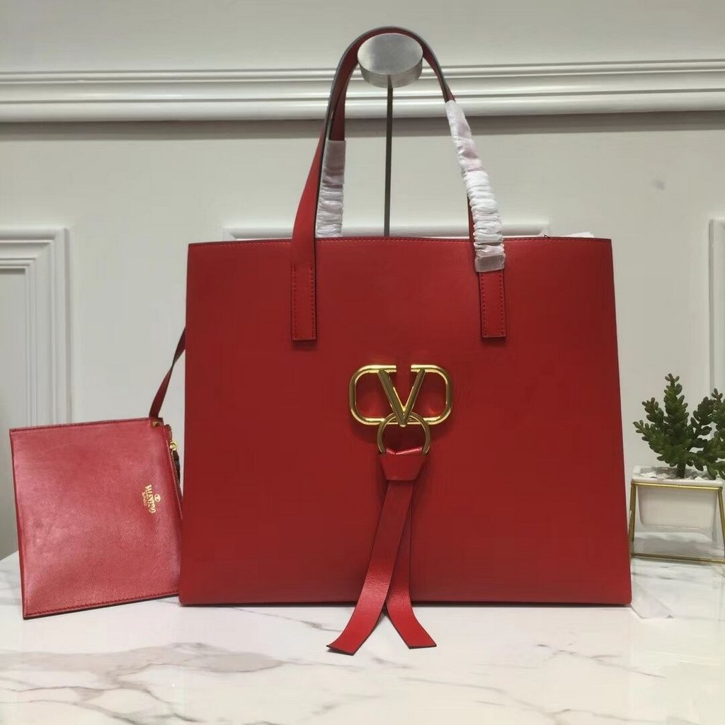 Valentino Garavani Vring Large Shopping Tote RW0B0D90 Red