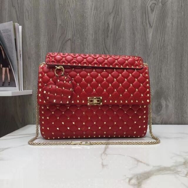 Valentino Garavani Rockstud Spike Large Bag SW2B0121 Red