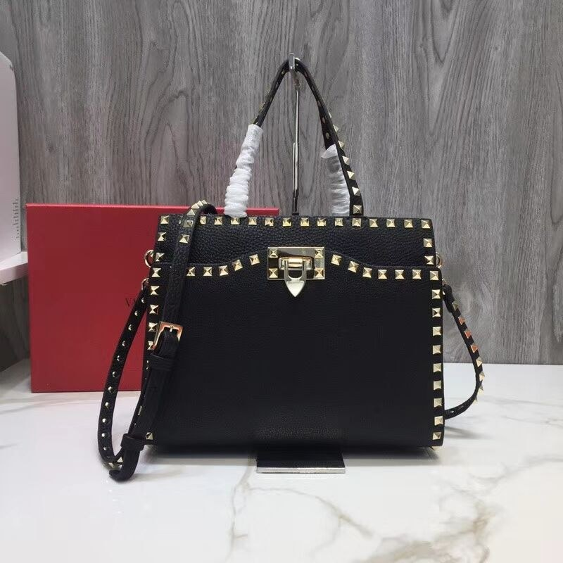 Valentino Garavani Rockstud Small Top Handle QW0B0C65 Black