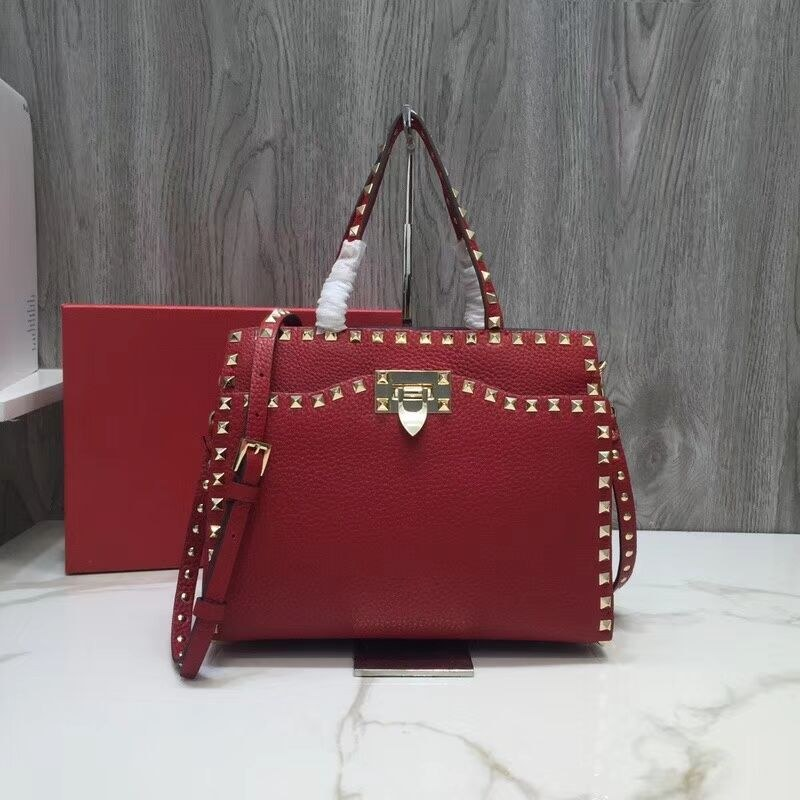 Valentino Garavani Rockstud Small Top Handle QW0B0C65 Red