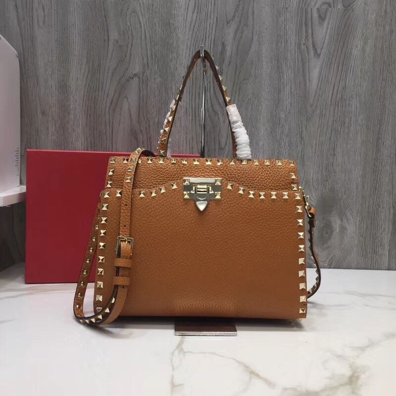 Valentino Garavani Rockstud Small Top Handle QW0B0C65 Tan