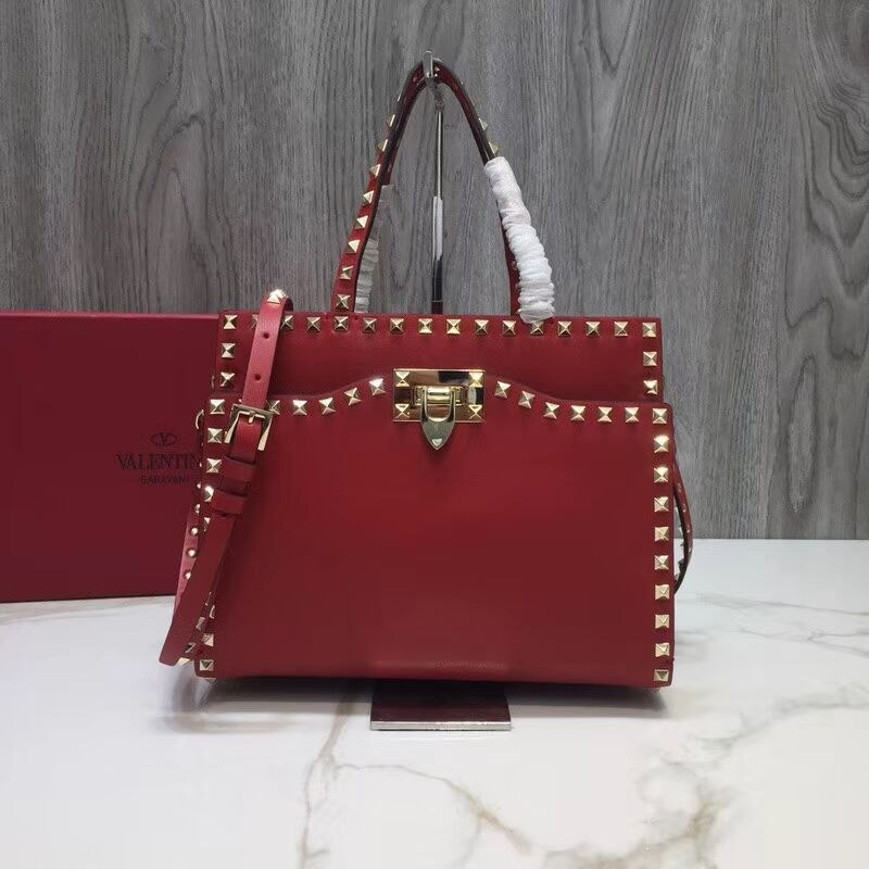 Valentino Garavani Rockstud Small Top Handle QW0B0C65A Red