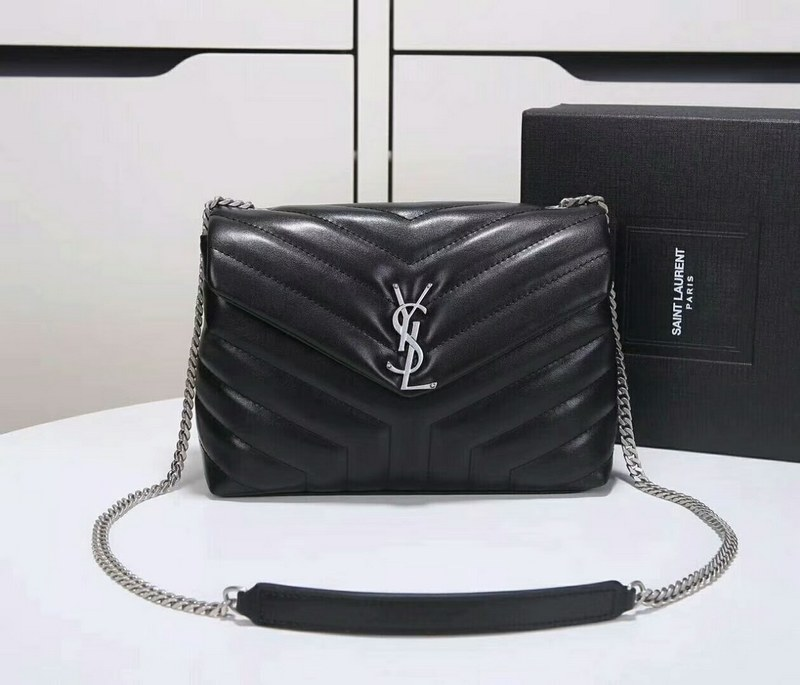 Saint Laurent Loulou Y Matelasse Small Chain Bag Y487218 Black c8196d91ee90a