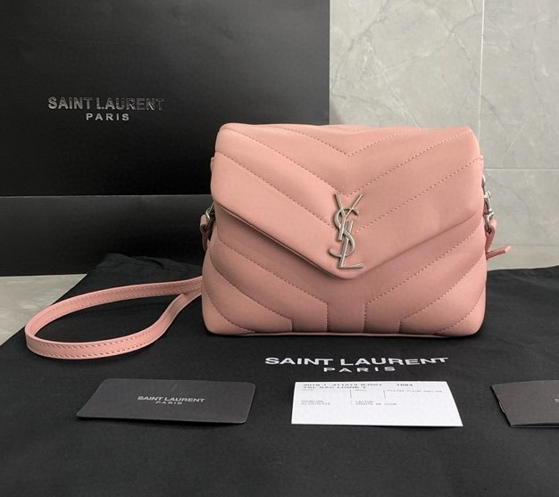 Saint Laurent Loulou Toy Y-Quilted Leather Bag 467072 Pink