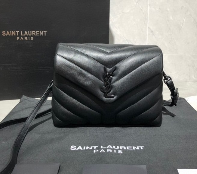 Saint Laurent Loulou Toy Y-Quilted Leather Bag 467072C Black