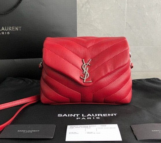 Saint Laurent Loulou Toy Y-Quilted Leather Bag 467072 Red