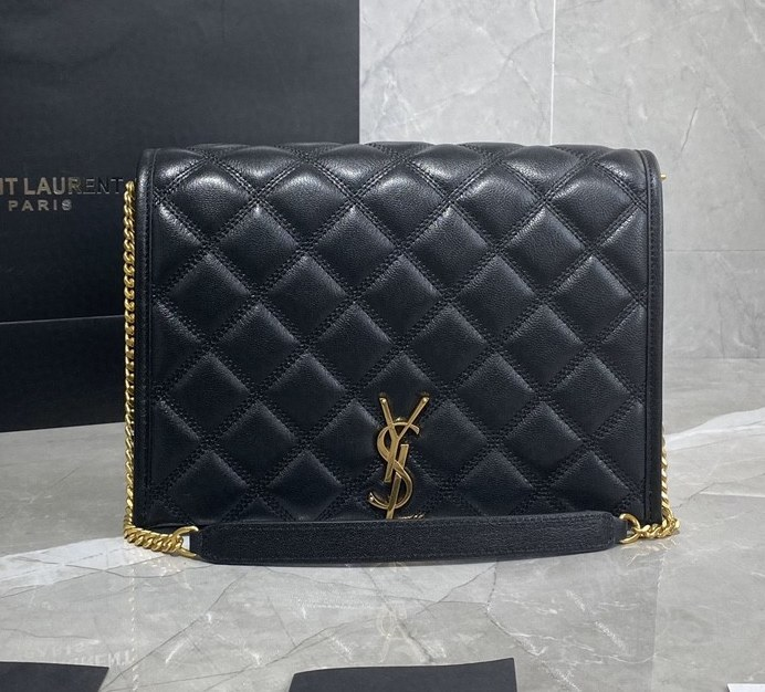 Saint Laurent Becky Quilted Lambskin Small Chain Bag 579607 Black