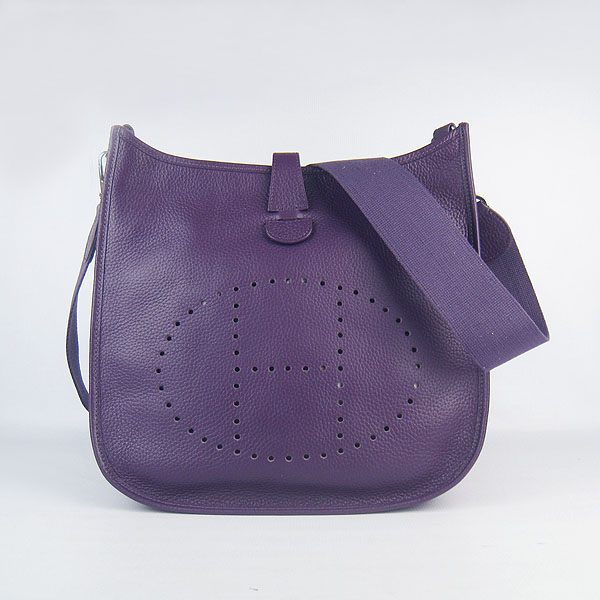 Hermes Evelyne Bag 1551A Purple
